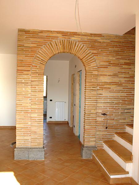 Rivestimento di parete in mattoncini antichi - Parete a mattoncini ...